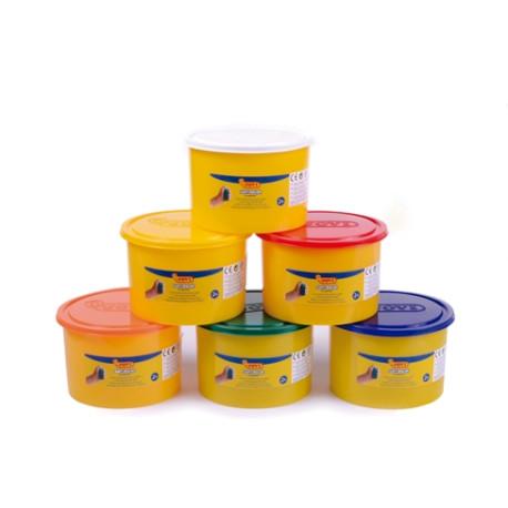 Ciastoplastelina  pudełko 6 pojemników 460 g w różnych kolorach