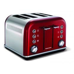 Toster Accents czerwony na 4 tosty new