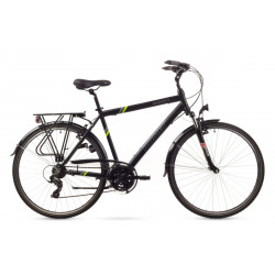 """Rower WAGANT 1 czarny z zielonym 19"""" M"""