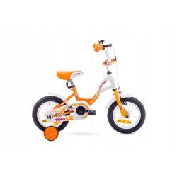 1812002 - 7 S Rower ROMET TOLA 12 biało-pomarańczowy