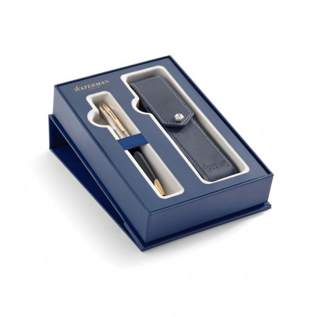 Zestaw długopis Carène Deluxe Black Czarny GT z luksusowym etui