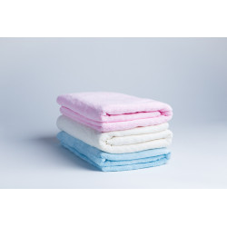 Zestaw 3 ręczników - różowy, niebieski, kremowy