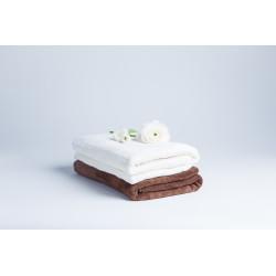Zestaw 2 ręczników - kremowy, brązowy