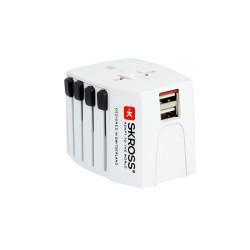 SKROSS Adapter Podróżny MUV USB 1.302930, 2xUSB, biały