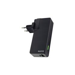 Ładowarka sieciowa Leitz Complete Travel z 2 portami USB i power bankiem 3000 mAh