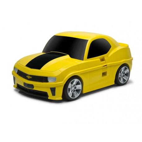 Walizka w kształcie samochodu - Chevrolet Camaro żółty