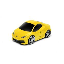 Walizka samochód Lamborghini Huracan - żółty