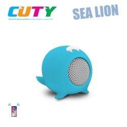 Głośnik w kształcie lwa morskiego - niebieski