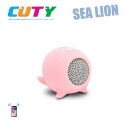 Głośnik w kształcie lwa morskiego - różowy
