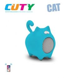 Głośnik w kształcie kotka - niebieski