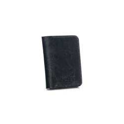 Cienki skórzany męski portfel z bilonówką SOLIER SW16A SLIM CIEMNY BRĄZ