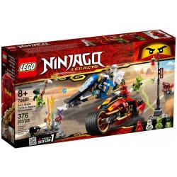 LEGO Ninjago Motocykl Kaia i Skuter Zanea