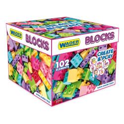 Klocki Create & Play 102 el. pink WADER