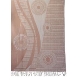 Koc bawełniany w ornament 140x205
