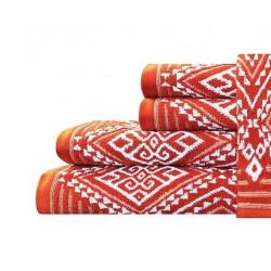 Ręcznik łazienkowy MALLORCA romby czerwony 70x140