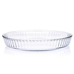 Szklana okrągłą forma do pieczenia 32 cm DUKA SOREN