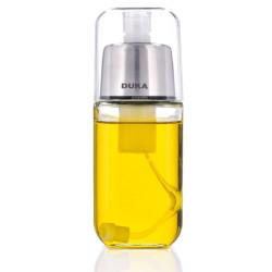 Szklana butelka spray na oliwę/ocet 180 ml czarna DUKA OLLI