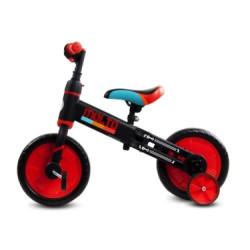 Rowerek biegowy Molto z opcją + pedały + kółka boczne czerwony