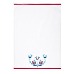 Ścierka kuchenna skandynawska DUKA SCANDIK 70x50 cm biała bawełna