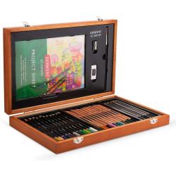 Zestaw artystyczny DERWENT Academy drewniane pudełko (35szt) 2300147